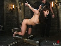 Busty Ava Devine gets crucified, tormented and ruthlessly fucked by rude master