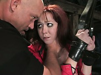 Babe Trinity Post is afraid of being suffocated that's why she obey master's every order