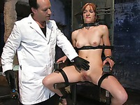 This kinky doctor is willing to examine Renee Broadway's holes with hands and other stuff.