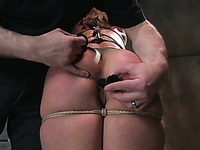 The enchained babe Ten is ready to walk like a dog and serve her master in all possible ways