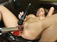 When the frisky Isabella Soprano gets fucked by sex machine she also rubs her clitoris