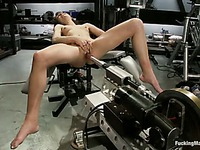 It's a real pleasure to see how this girl's Ivy Brooke pussy gets stretched by huge sex machine
