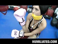 Super sexy busty lady boxer Dylan Ryder gets tied and penetrated by horny sportsman