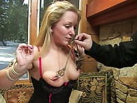 Kristine Kink, Dia Zerva, Amber Keen and Nina get undressed, tied up and punished