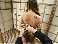 Watch completely naked obedient woman Venus with big boobs gets tied up