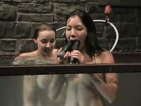 Awesome underwater punishment for oriental girls Keeani Lei and Delilah Strong