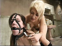 Latex clad blonde nurse Kimberly Kane has prepared an amazing punishment for brunette Bobbi Starr