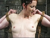 Naked helpless redhead girl Nina gets ruthlessly used by water loving domme Princess Donna