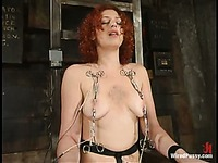 Naturally busty redhead Venus May gets tied and abused by domina Chanta Rose
