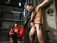 Bound Pussybottomboy gets ruthlessly tortured by latex crazed Mistress Aradia