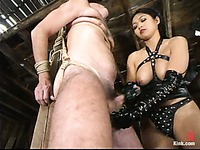 Obedient Wild Bill gets humiliated and tortured by crazy asian domina Mika Tan