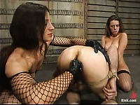 Enslaved couple Kym Wilde and Nathaniel Meadowlark getting dominated by mistress Penny Flame