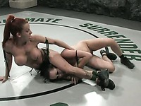 Big titted redhead Shannon Kelly is about to defeat naked sexy brunette Alexa Von Tess