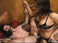 Crossdresser Judas gets his helpless ass spanked and fucked by domina Tory Lane