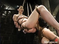 Wenonas World eats pussy of her mistress Ariel X before water punishment
