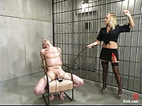 Prisoner Richie Rennt  gets his ass used by dominating police blonde Xana Star