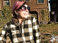 The country adventure of naughty pink-haired alternative chick Joanna Angel