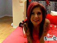 Alternative chick Joanna Angel is going to celebrate The Valintine's Day with her BF in the bedroom