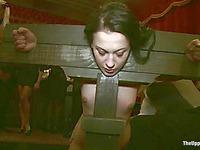 Three slave girls Kait Snow, Jessie Cox and Cheyenne Jewel get abused in public