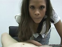 European lady Kiesha Kane plays with meaty cock and gives pain from your perspective