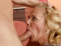 Aged wrinkled whore Lili gets her love tunnel filled with stiff man meat
