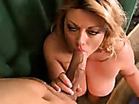 Fat lady Brianna Falcone gives unthinkable blowjob to lucky guy then he bangs her pussy