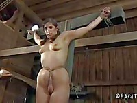 Nerdy looking Marina A gets brutally abused and mistreated in a wicked bondage session