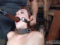 The time has come for Holli Woods to learn the true meaning of bondage action.