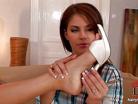 Foot and legs action is one of Silvie de Lux's fetishes and this video is her favorite.