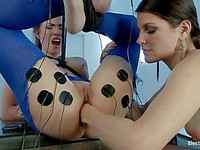 Bobbi Starr is fisting her new tight teen slave girl called Casey Calvert with great passion