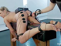 Bailey Blue gets tons of electro bizarre pleasure as Aiden Starr hooks her up