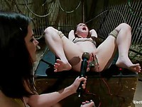 Bobbi Starr has all kinds of bizarre electro-play planned for AnnaBelle Lee