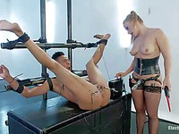 Nikki Darling gets her delicious butt drilled hard by her bondage domme Lea Lexus