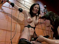 Katie St Ives is made to cum with a sex toy by her bondage mistress Bobbi Starr