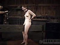 Mattie Borders is placed in BDSM bondage and she can barely survive all the positions