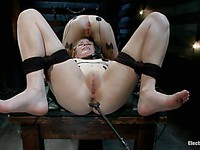 Lizzy London and Penny Pax endure shocking and zapping as they satisfy bdsm mistress Bobbi Starr