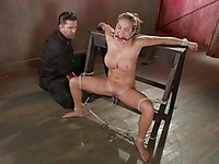 Master ties up his BDSM hottie Mia Lelani, finger-fucks her and then works her with a magic wand