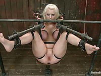 Mz Berlin fucks the hogtied Cherry Torn who likes being humiliated like a slut.