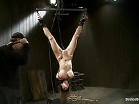 Attractive Trina Michaels strips down seductively and prepares for a good spanking and whipping.