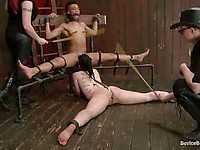 Katharine Cane and Nikki Darling are two bondage sluts who love being ordered around by Mz Berlin.