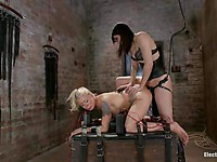 Sexy chick Lorelei Lee is hogtied and slammed hard from behind by the wicked Bobbi Starr.