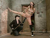 Mia Gold gets her body whipped, spanked and plunged with a dildo by her wicked mistress.