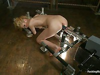 Tiffany Fox is a wicked blonde who likes stimulating her clit and wet throbbing pussy.