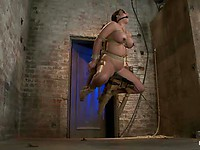 Lustful Mackenzee Pierce gets tied to the chair, with her tongue and huge nipples pinched roughly.