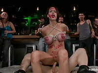 Pretty brunette Mckenzie Lee with big tits gets tied up, humiliated and groped by Princess Donna.