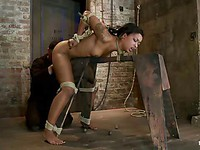 Bending over is what Skin Diamond does all the time when she is preparing for bondage action.