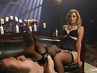 Maitresse Madeline in kinky fetish action with hot and experienced babe getting licked and rammed.