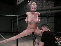 Cherry Torn is experiencing hardcore bondage and her body can barely withstand the pleasure.