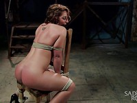 Poor Savannah Fox is a victim of bondage and her vagina must endure these hardships.
