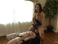 Katt Anomia gets her toys and makes Lea Lexis moan and scream during kinky sex toys & insertions.